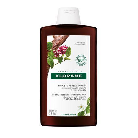 Klorane Заздравяващ и стимулиращ шампоан против косопад и оредяваща коса с хинин и органичен еделвайс x400 мл