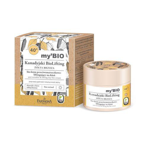 Farmona Canadian Biolifting Дневен био крем против бръчки с повдигащ ефект с жълта бреза 40+за всеки тип кожа x50 мл