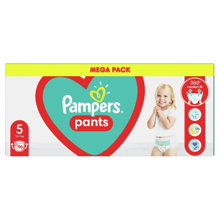 Pampers Pants 5 Junior Пелени-гащи за бебета и деца от 12 до 17 килограма x96 броя