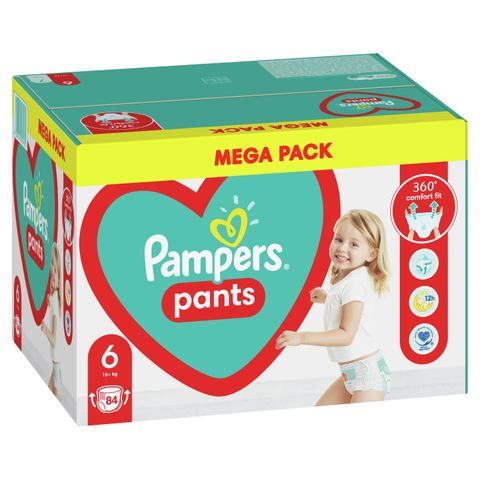 Pampers Pants 6 XL Пелени-гащи за бебета и деца над 15 килограма x84 броя