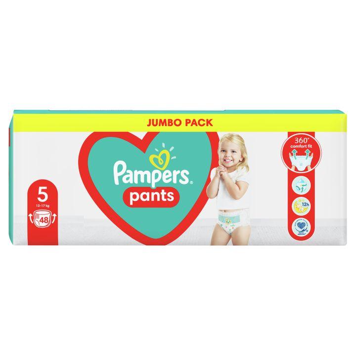 Pampers Pants 5 Junior Пелени-гащи за бебета и деца от 12 до 17 килограма x48 броя