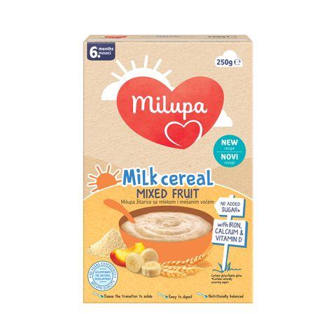 Milupa Млечна плодова каша за кърмачета над 6 месечна възраст x250 грама