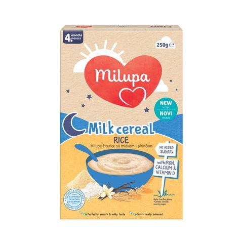 Milupa Млечна оризова каша за кърмачета над 4 месечна възраст x250 грама