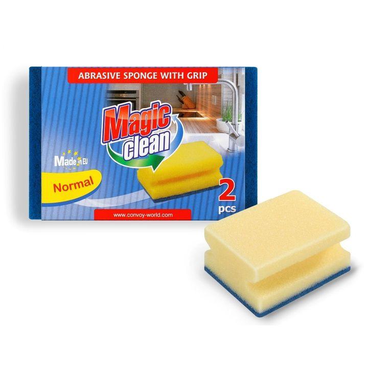 Magic Clean Домакинска гъба с канал x2 броя
