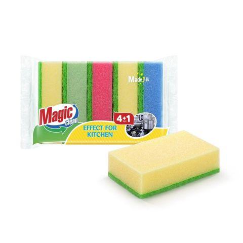 Magic Clean Домакинска гъба x4+1 броя