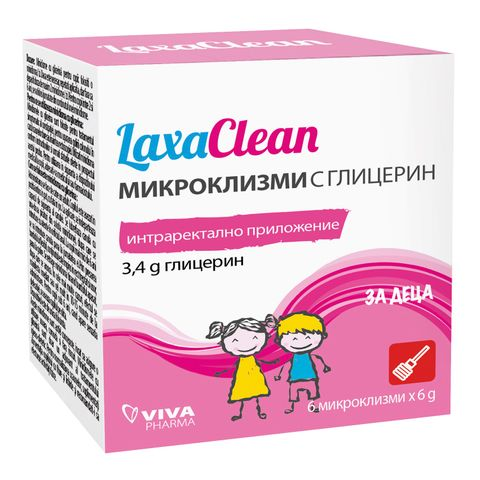 Laxaclean Микроклизми с глицерин за деца х6 броя