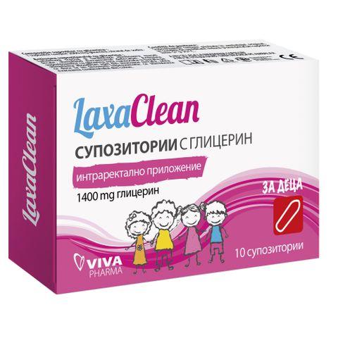 Laxaclean Супозитории с глицерин за деца х10 броя Ceumed