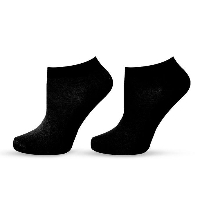 Agiva Happy Foottopia Къси черни чорапи от органичен бамбук, размер 43-46