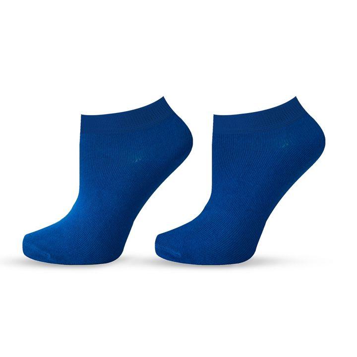 Agiva Happy Foottopia Къси тъмно сини чорапи от органичен бамбук, размер 39-42