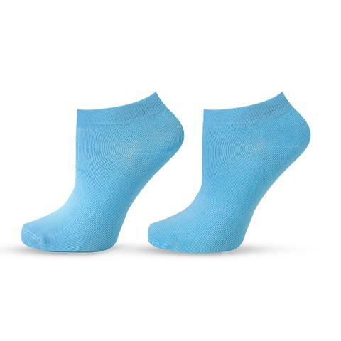 Agiva Happy Foottopia Къси светло сини чорапи от органичен бамбук, размер 43-46