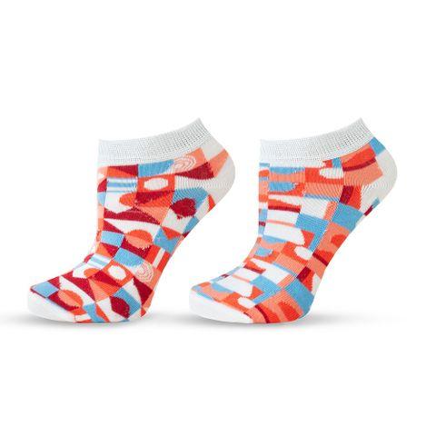 Agiva Happy Foottopia Къси чорапи от органичен бамбук Фигури, размер 39-42
