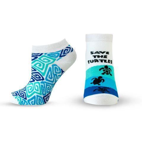 Agiva Happy Foottopia Къси чорапи от органичен бамбук Костенурки, размер 43-46