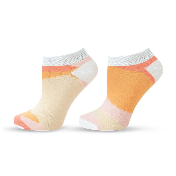 Agiva Happy Foottopia Къси чорапи от органичен бамбук Пясък, размер 35-38