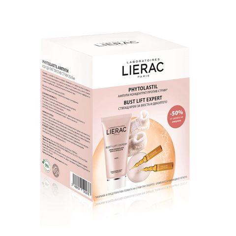 Lierac Промо комплект Bust Lift Expert Моделиращ крем за бюста и деколтето и  Phytolastil Ампули концентрат против стрии