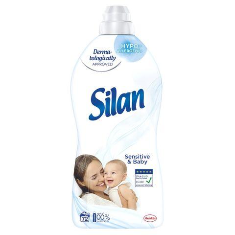 Silan Sensitive & Baby Концентриран омекотител за тъкани x1,8 л