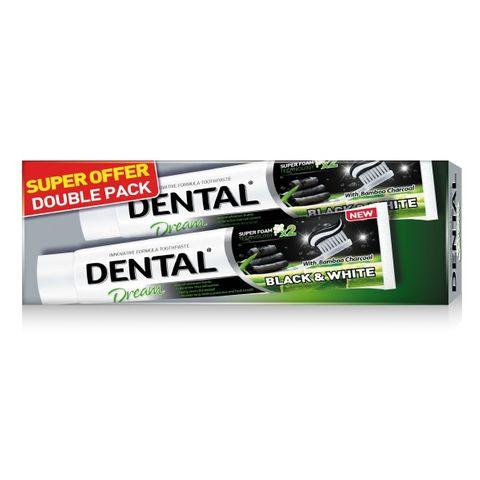 Dental Dream Промо комплект Black & White Паста за зъби 2x75 мл