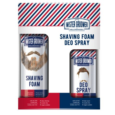 Mister Groomer Промо комплект Пяна за бръснене и Део спрей за мъже