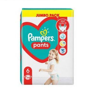 Pampers Pants 6 XL Пелени-гащи за бебета и деца над 15 килограма x44 броя