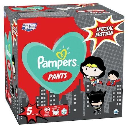 Pampers Pants Special Edition 5 Junior Пелени-гащи ''Justice League'' за бебета от 12 до 17 килограма x66 броя
