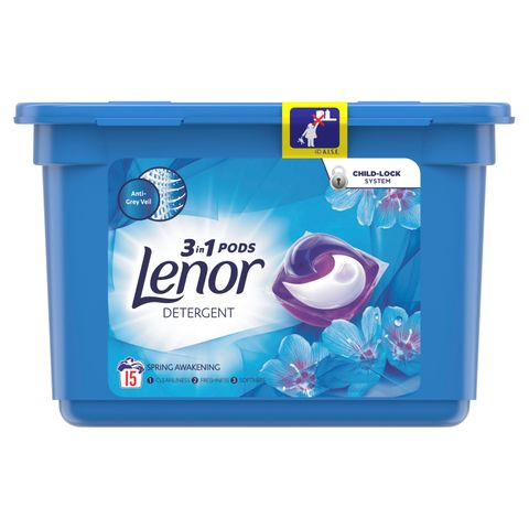 Lenor 3 in 1 Pods Spring Awakaning Гел капсули за пране15 броя x25,1 грама