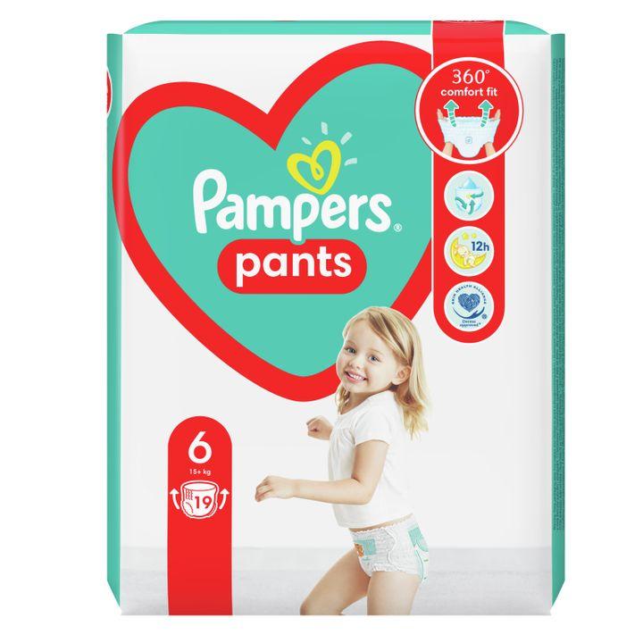 Pampers Pants 6 XL Пелени-гащи за бебета и деца над 15 килограма x19 броя