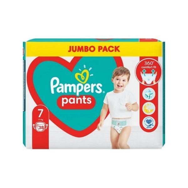 Pampers Pants 7 XL Пелени-гащи за бебета и деца над 17 килограма x38 броя