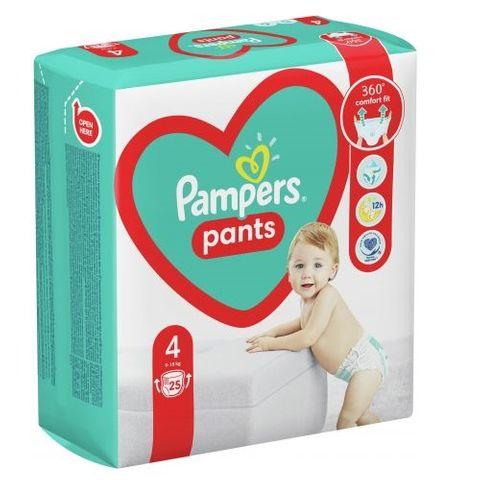 Pampers Pants 4 Maxi  Пелени-гащи за бебета и деца от 9 до 15 килограма x25 броя