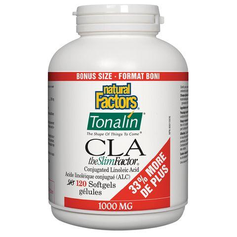 Natural Factors Тоналин КЛА 1000 mg х120 софтгел капсули