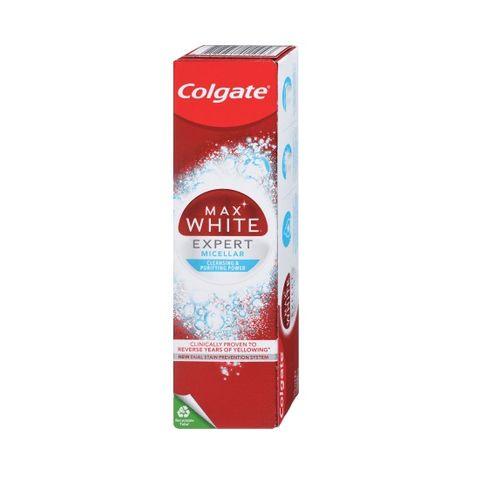 Colgate Max White Expert Micellar Избелваща паста за зъби x75 мл
