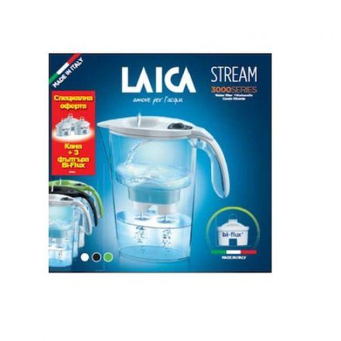 Laica Промо комплект Stream Line Филтрираща кана и 3 бр. Bi-Flux Универсален филтър