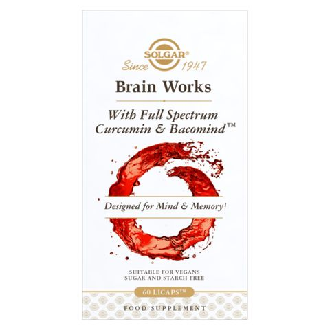 Solgar Brain Works с пълен спектър куркумин и BacoMind х60 капсули