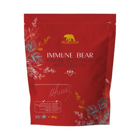 Immune Bear Immune Boosting & Anti Cold Tea Билков чай против грип и настинка х60 грама