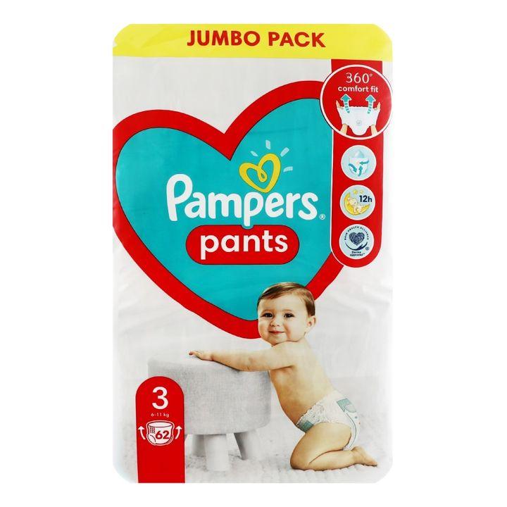 Pampers Pants 3 Midi Пелени-гащи за бебета и деца 6-11кг х62 броя