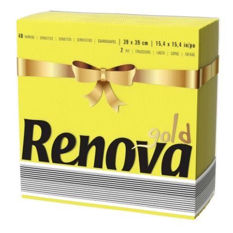 Renova Gold Салфетки x40 броя, жълти