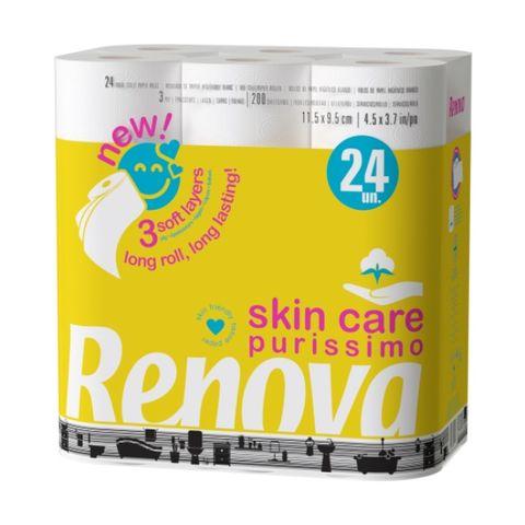 Renova Skin Care Purissimo Тоалетна хартия x24 броя