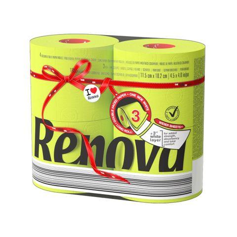 Renova Red Label Maxi Тоалетна хартия x4 броя, зелена