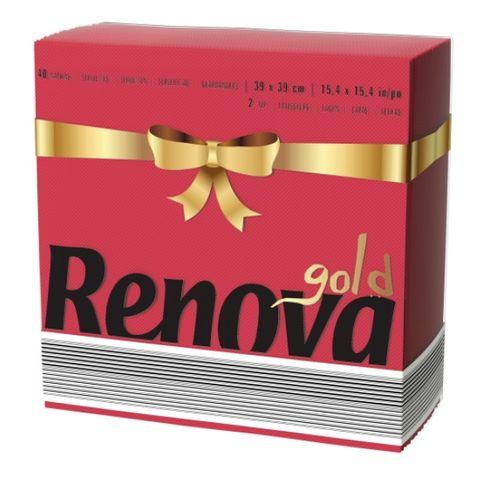 Renova Gold Салфетки x40 броя, червени