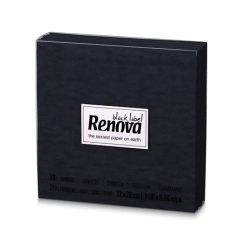 Renova Black Label Коктейлни салфетки x30 броя, черни