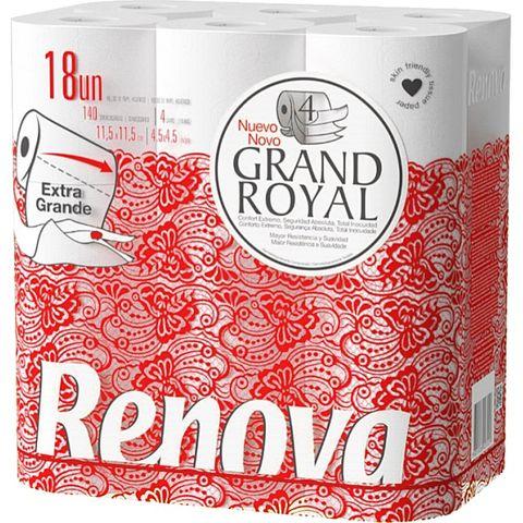 Renova Grand Royal Тоалетна хартия x18 броя