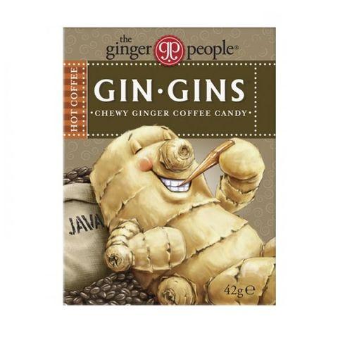 Gin Gins Дъвчащи бонбони с джинджифил и кафе х42 г