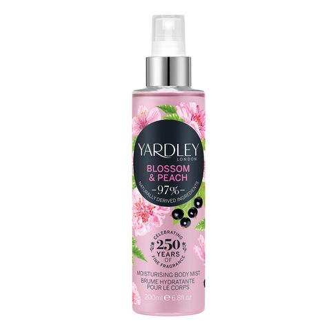 Yardley London Blossom & Peach Мист за тяло x200 мл