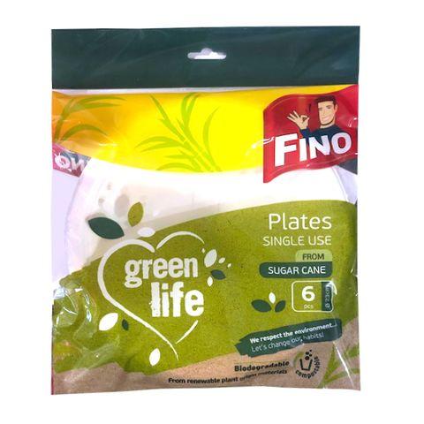 Fino Green Life Биоразградими чинии за еднократна употреба x6 броя