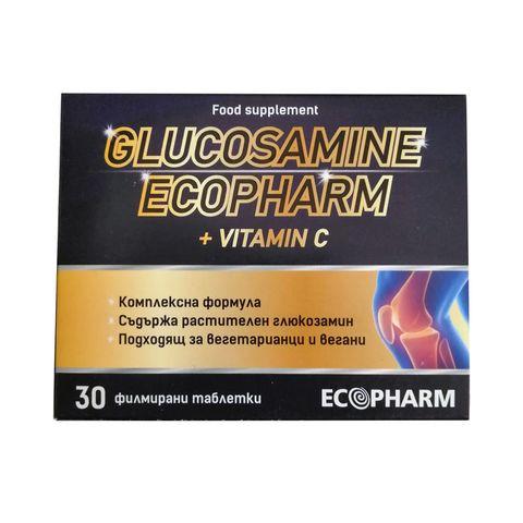 Ecopharm Глюкозамин 1500 и витамин С х30 таблетки