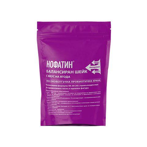 Vitagold Нофатин Балансиран шейк с вкус на ягода х1000 г