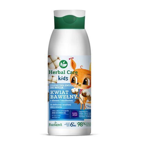 Farmona Herbal Care Kids Емолиентна деликатна емулсия за измиване на чувствителна и суха кожа x400 мл