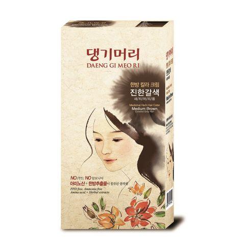 Doori Herb Care Color Безамонячна фито боя за коса x120 грама, Medium Brown