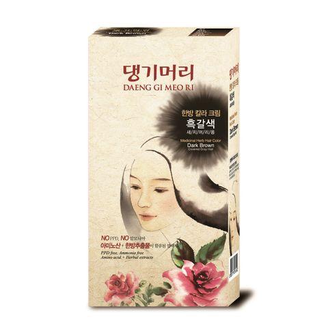 Doori Herb Care Color Безамонячна фито боя за коса x120 грама, Dark Brown