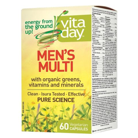 Natural Factors Vitaday Men's Multi мултивитамини за мъже х60 капсули