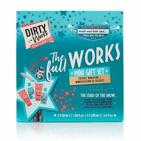 Dirty Works The Full Works Мини подаръчен комплект за баня от 4-ри части