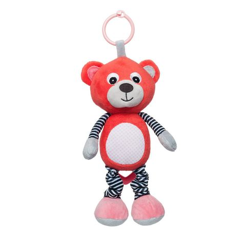 Canpol babies Мека музикална играчка Bears, coral
